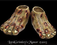 Rotted Zombie Feet Covers Halloween Costume Prop Horror Shoe Foot Undead
