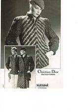 PUBLICITE  1979   CHRISTIAN  DIOR    boutique fourrure