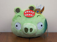 "Angry Birds King Pig Green Piggie 5"" Plush Stuffed Animal Doll W/ Sound **NEW**"