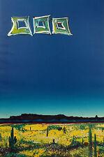 """Michael Raburn """"Crimson Dusk"""" Signed Original Monoprint Artwork desert landscape"""