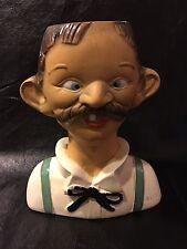 Vintage Rare Alexander Backer Co. Two Faced Four Eyed Bartender Chalkware Statue