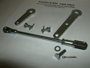 z Triumph BSA TLS Twin Leader Brake 1968 Levers rod assembly+pins €FC JLY21 #11