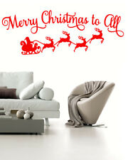Merry Christmas to all Wall Stickers Window Vinyl Decal UK