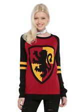 Harry Potter Sweater, Gryffindor Sweater, Gryffindor Crest Sweater - Med or Lg