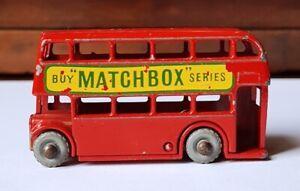 Lesney Matchbox   n° 26  bus anglais à impériale mini miniature 5,5 cm