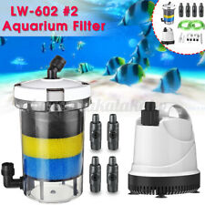 Aquarium Fish Tank External Canister Filter Outside Pre-Filter Valve +Pump