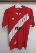 vtg Peru National Football Team Jersey FPF Praga Sportswear red sz M