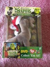 Shrek Forever After The Final Chapter Dvd & Donkey Ty Beanie Baby -Sealed