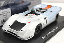 Fly Gb9 Gulf Porsche 917 Spyder Test Car New 1/32 Slot Car In Display Case