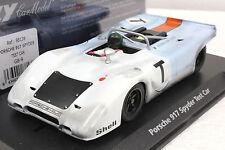 FLY GB9 GULF PORSCHE 917 SPYDER TEST CAR NEW 1/32 SLOT CAR IN DISPLAY CASE