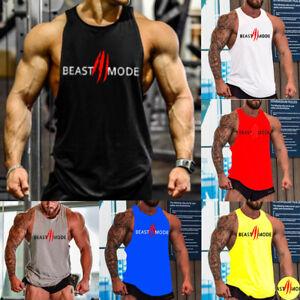 Tanktop T-Shirt Achselshirts Muskelshirt Ärmellos Herren Bodybuilding Unterhemd