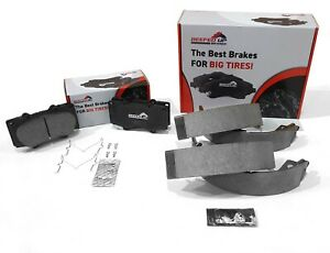 Front Pads and Rear Shoes Brake Pad Kit for 2005 - 2021 Toyota Tacoma 4WD