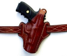 "Colt 1911 OWB Thumb Break Leather Belt Holster 5"" inch ( FREE OPEN TOP HOLSTER )"