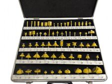 "ROUTER BITS SET - 66 piece 1/4"" shank CARBIDE Aluminum Case NEW"