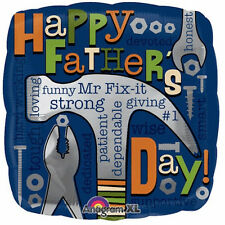 "FATHER'S DAY BALLOON 18"" SQUARE FATHER'S DAY MR FIX IT ANAGRAM FOIL BALLOON"