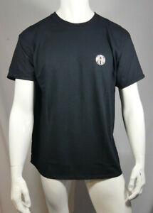 Mens Oversized Man Circle Logo T-Shirt Black Size Small MTJul24-9