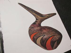 PUCCI UMBERTIDE vaso ornitomorfo in Ceramica policroma da collezione privata