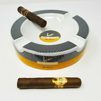 SIKARX Cohiba Cigars Large Ceramic Ashtray for Patio / Outdoor Use 4 Cigar rests