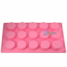 15 Cavity Round Cylinder Column Cake Mold Silicone Handmade Soap Mould Muffin