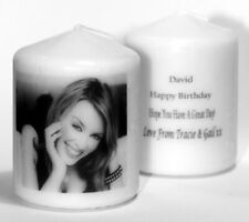 More details for personalised kylie minogue candle gift keepsake present special occasions