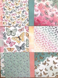 "Stampin' Up! Butterfly Bijou Designer Series Paper 12 Sheets at 6"" x 6"" DSP"