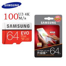 GENUINE Samsung 64GB Evo Plus micro SD SDXC 100MB/s Class10 MEMORY CARD S7/S8