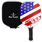 USAPA Approved PickleBall Paddle Graphite Racket USA Flag Honeycomb Core