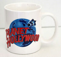 Planet Hollywood 12 oz Ceramic Cup Mug White Red Blue Casino Hotel NWOT