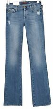 NEW 7 For All Mankind SKINNY BOOTCUT Mid Rise Blue Stretch Jeans Size 8 W26 L34