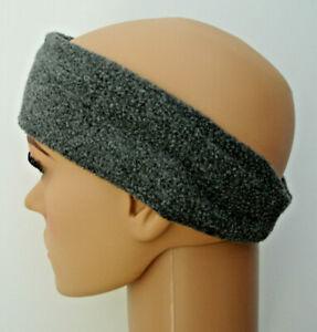 HEADBAND GREY Adults Fleece Head Warmer Ear Muff Hat Ski Unisex Running Jog UK