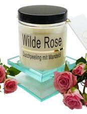 (€ 52,66/kg) Körperpeeling Salz Wilde Rose Duft Peeling mit Mandelöl 320g, Scrub