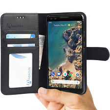 Google Pixel 3 Case by Abacus24-7 Leather Wallet With Flip Cover Credit Card -