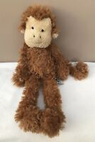 """Jellycat Small Scrumpty Monkey Brown Soft Beanie Toy 15"""" Comforter Soother Rare"""
