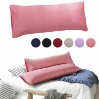 """Standard Queen King Satin Silk 20*55"""" Pillowcase Body Pillow Case Cover Bedding"""