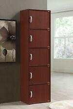 5 Door Storage Cabinet Shelf Organizer Bookcase Pantry Cupboard Closet COLORS