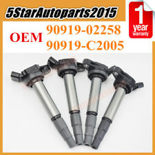 4x OEM Ignition Coils 90919-02258 for Toyota Corolla Matrix Prius Scion xD Lexus