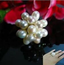 lovely natural 8-9mm white pearl ring