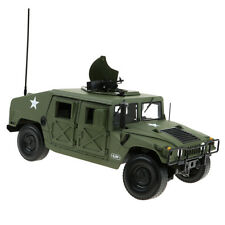 New 1/18 Simulation Army Green Battlefield Scene Building Military Truck Model
