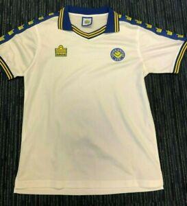 White Leeds United Shirt Original LUFC Admiral 1970s Fantastic Condition Large L