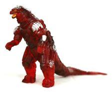 "Red Mecha Godzilla RARE 4"" Bootleg Mini Figure Unbranded Kong Ghidorah Rodan"