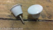 10 x White Screw In Cupboard Knobs Slight Seconds 23mm Screw 16mm Joblot
