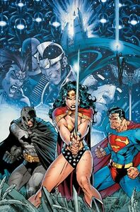 Infinite Crisis Giclee on Paper 3/250 Signed by Jim Lee-Batman/Superman/WW