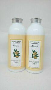 Caswell Massey Classics LOT OF 2 ~ ALMOND Perfumed Talc ~ 3.5 oz ~ New & Sealed