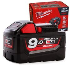 Genuine Milwaukee 18V Red Lithium Ion M18 Battery 9.0AH High Demand - AU STOCK