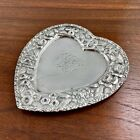 DAVIS+%26+GALT+REPOUSEE+STERLING+SILVER+HEART+SHAPED+JEWELRY+%2F+PIN+TRAY+MONO+JE