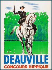 Deauville Horse Show France French Europe Vintage Travel Advertisement Poster
