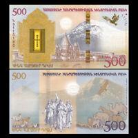 Armenia 500 Dram, 2017, P-60, Noah's Ark COMM., Banknotes, UNC