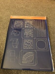 Groovi Parchment Embossing Plate - Christmas Box Template. A4. New & Sealed.
