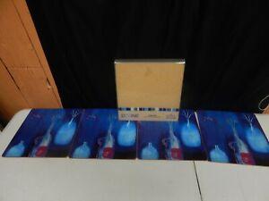 PIMPERNEL cork place mats blue 11 x 11 set of 8 DIVINE contemporary art