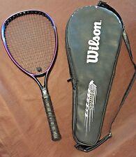 Wilson Sledge Hammer Tech Swing 3.8 Index, HS4 Oversize, Tennis Racket with Case